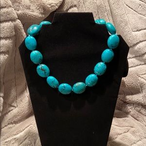 Jewelry - Large turquoise bead necklace